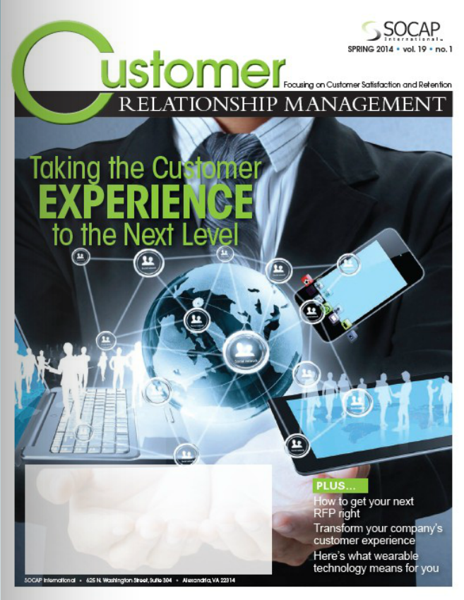 Cover for 2014 Spring CRM Magazine