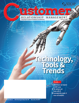 Summer 2017 CRM Magazine cover